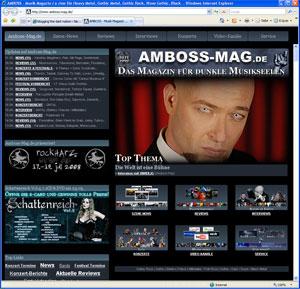 Screenshot www.amboss-mag.de